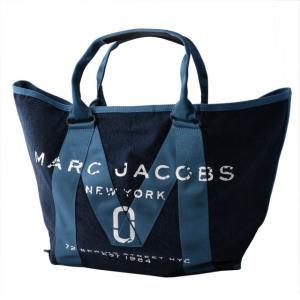 マークジェイコブス MARC JACOBS M0011123-423 ミリタリーロゴプリント トートバッグ New Logo Tote Denim デニム ブルー系|salada-bowl