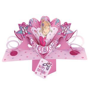 セカンドネイチャー ポップアップカード バースデー バレエガール POP157 誕生日 孫 孫娘 女児 女の子 3D メッセージカード イベント|salada-bowl