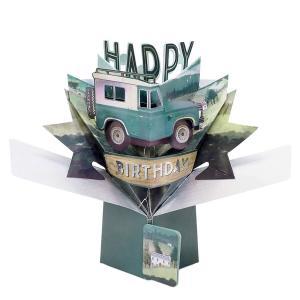 セカンドネイチャー ポップアップカード バースデー ランドローバー POP175 誕生日 車 3D メッセージカード イベント|salada-bowl