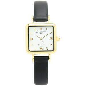 pierre talamon ピエールタラモン 腕時計 pt-7000l-5 スモールセコンドローマインデックスレディースウォッチ ブラック×ゴールド 送料無料
