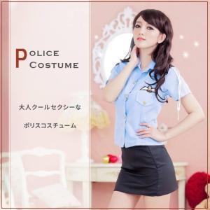 コスプレ ポリス 衣装 婦人警官 警察 セクシー コスチューム ミニスカ 制服 ハロウィン 仮装 パーティー レディース|sale-store