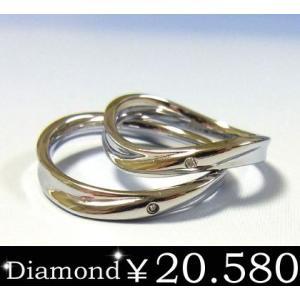 EVE ペアイヴダイヤモンドリング/クロス/ステンレスアクセサリー/プレゼント/ギフト/サージカル|sales
