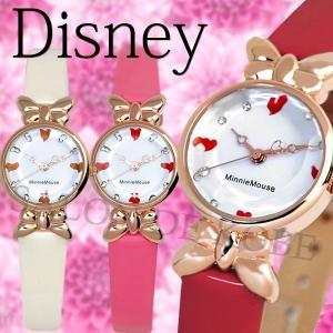 ミニー 腕時計 ディズニー レディース リボン 腕時計 エナメル 本革ベルト Disney disney_y salon-de-kobe