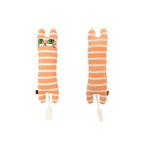 iDog&iCat 国産おもちゃiToy ユキちゃんの仲間たち オレンジボーダー Sサイズ salon-de-miel