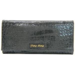 ミュウミュウ 二つ折 長財布 グレー 5M1109-ST-COCCO-LUX-GRAFITE|salon-de-miel
