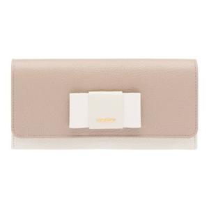 ミュウミュウ リボン付き  二つ折 長財布 5MH109 2EW7 F0EXB ベージュ+ホワイト|salon-de-miel