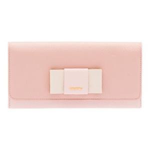 ミュウミュウ  リボン付き 二つ折 長財布 5MH109 2EW7 F0JW1 ピンク|salon-de-miel