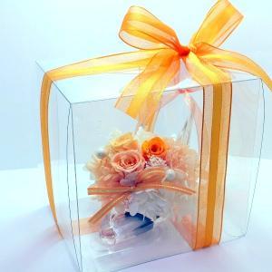 プリザーブドフラワー ガラスの靴 オレンジ系ア...の詳細画像4
