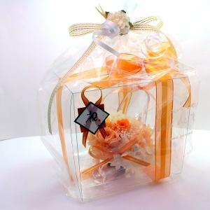 プリザーブドフラワー ガラスの靴 オレンジ系ア...の詳細画像5