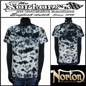ポロシャツ/Norton/ムラ染めポロシャツ/ブラック/Lサ...