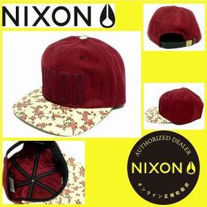 キャップ メンズ レディース NIXON ニクソン キャップ HAT BARSITY/BURGUND...