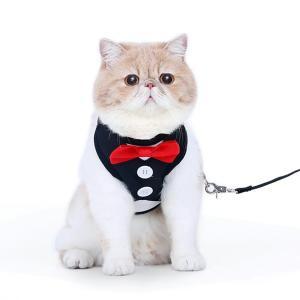 猫ハーネス 猫リード 猫服 タキシード 猫用ハーネス 猫用リード|sam-store