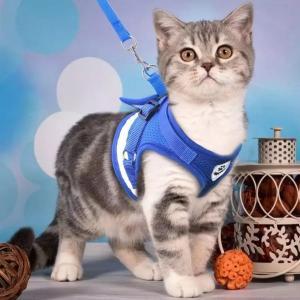 猫用ハーネス 猫リード 猫用ハーネス&リードセット お散歩リード 猫用リード 猫ハーネス