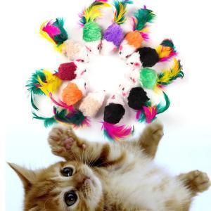 猫じゃらし 猫おもちゃ 猫じゃらしネズミ 猫じゃらしネズミ5個セット|sam-store