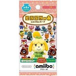 どうぶつの森 amiiboカード 第4弾【1パック(3枚入り)】|sam-store
