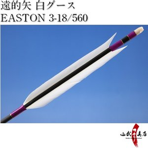 遠的矢 白グース EASTON 3-18/560 6本組【D-1084】 sambu