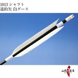 遠的矢 白グース 1813シャフト 6本組 弓道 弓具 矢 D-1152 sambu