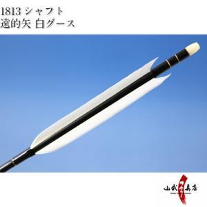 遠的矢 白グース 1813シャフト 6本組 弓道 弓具 矢 D-1153 sambu
