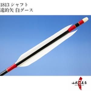 遠的矢 白グース 1813シャフト 6本組 弓道 弓具 矢 D-1154 sambu