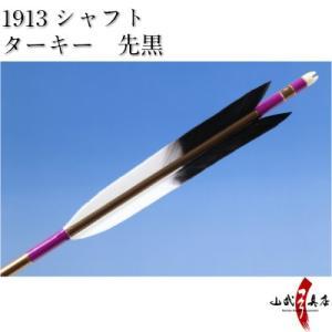ターキー 先黒 1913シャフト 6本組 弓道 弓具 矢 D-1534 sambu