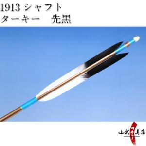 ターキー 先黒 1913シャフト 6本組 弓道 弓具 矢 D-1536 sambu