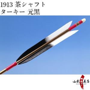 ターキー 元黒 1913シャフト 6本組 弓道 弓具 矢 D-1538 sambu