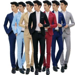 スーツ メンズ ビジネススーツ スーツ セットアップ  フォーマルスーツ スリムスーツ セットアップ...