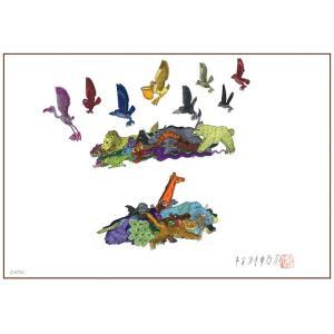 愉快な動物たち アクリル板 150x200mm(マグネアクリ) 動物たち3|samipri
