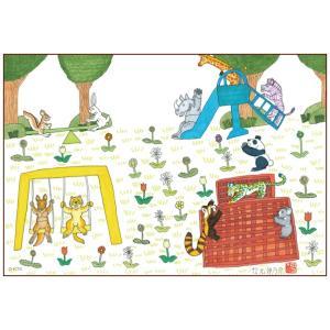 絵画 かわいい インテリア アート 愉快な動物たち17(マグネアクリ) 150x200mm|samipri