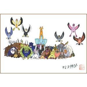 愉快な動物たち アクリル板 90x132mm(マグネアクリ) 動物たち7|samipri
