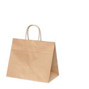 手提げ紙袋 HV68 未晒 無地 巾320×マチ200×高さ275mm(50枚セット) samipri