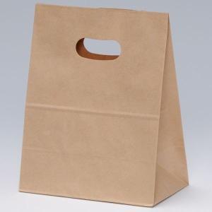 手提げ紙袋 イーグリップ M 茶無地 巾180×マチ105×高さ225mm(50枚セット) samipri