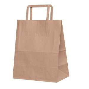 手提げ紙袋 H平23 未晒 無地 巾220×マチ130×高さ270mm(50枚セット) samipri