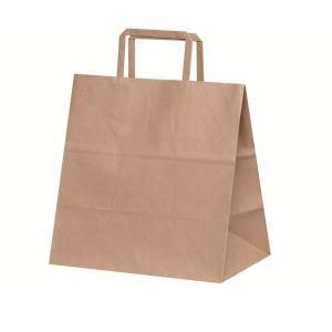 手提げ紙袋 H平26 未晒 無地 巾260×マチ160×高さ260mm(50枚セット) samipri