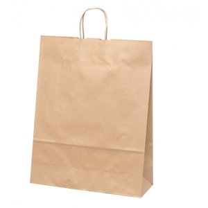 手提げ紙袋 HV140 未晒 無地 巾420×マチ160×高さ535mm(200枚セット) samipri