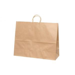 手提げ紙袋 HV160 未晒 無地 巾600×マチ220×高さ480mm(100枚セット) samipri