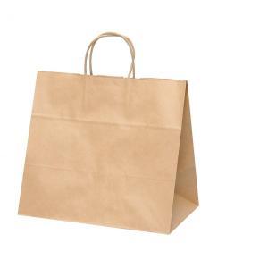 手提げ紙袋 HV75 未晒 無地 巾340×マチ220×高さ315mm(200枚セット) samipri