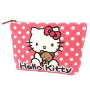 ハロー キティ [HELLO KITTY] キティちゃん サガラ刺繍 ポーチ クラッチ|sampei
