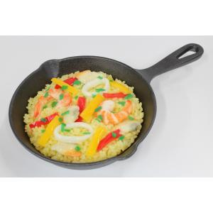 食品サンプル スキレット用パエリア 6インチ 15センチ 販促物 インテリア  アウトドア
