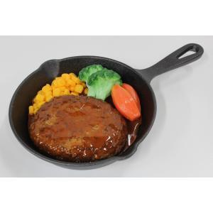 食品サンプル スキレット用ハンバーグ 6インチ 15センチ 販促物 インテリア  アウトドア
