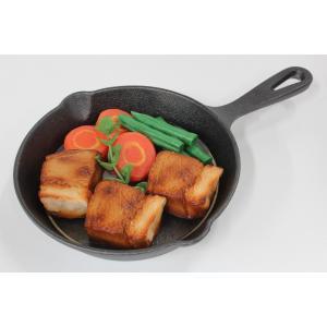 食品サンプル スキレット用ステーキ 6インチ 15センチ 販促物 インテリア  アウトドア