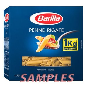 コストコ店頭で販売されている『バリラ パスタ(ペンネ)(3箱入り)』を小分けして1箱のサンプル販売。...