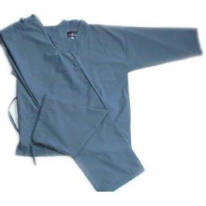ポリ綿作務衣(青磁)