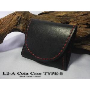 コインケース L-2A type8 サドルベーシック ブラック|samuraicraft