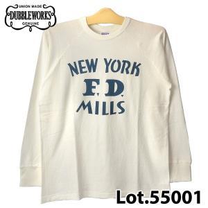 ダブルワークス Lot.55001 NEW YORK F.D. ロングスリーブ Tシャツ|samuraicraft
