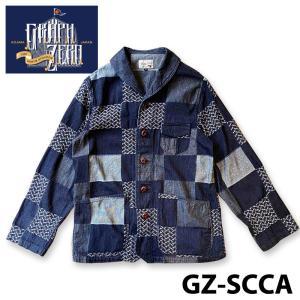 グラフゼロ GZ-SCCA ショールカラーカバーオール パッチワーク samuraicraft