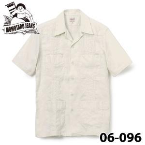 桃太郎ジーンズ  リネン/コットン キューバシャツ 06-096 samuraicraft