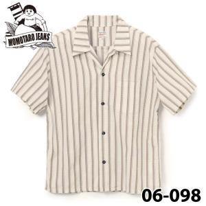 桃太郎ジーンズ  ストライプハワイアンシャツ 06-098 samuraicraft