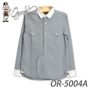 オルゲイユ OR-5004A クレリックワークシャツ|samuraicraft