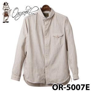 オルゲイユ OR-5007E ストライプショ−ルカラーシャツ|samuraicraft